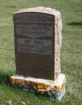 Angus Margaret Morrison grave stone