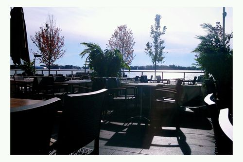 Late October Patio by Sugar Beach